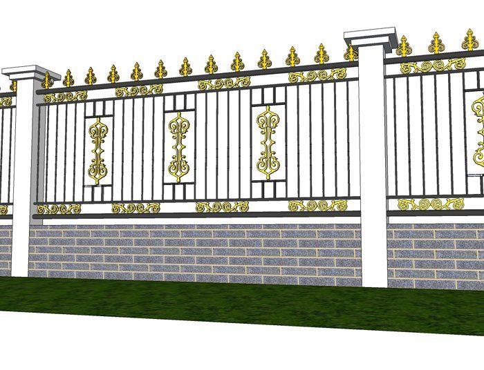 Hàng rào với chất liệu kim loại