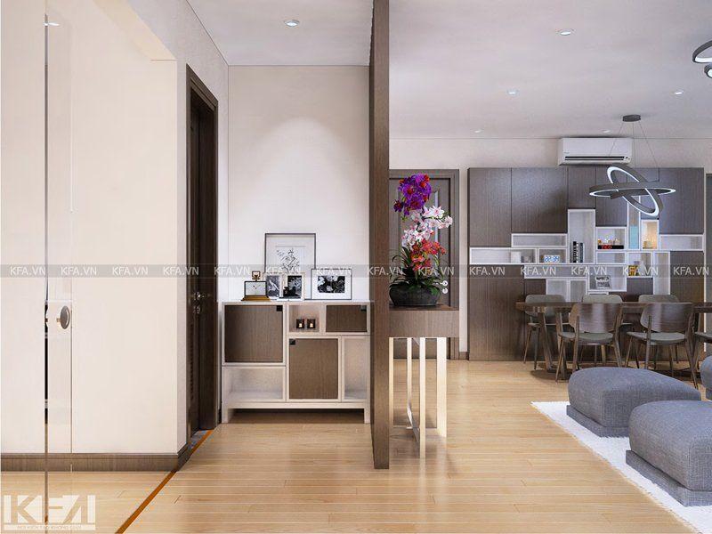 Thiết kế và thi công chung cư Skyline Hoàng Cầu – anh Dũng, chị Hằng