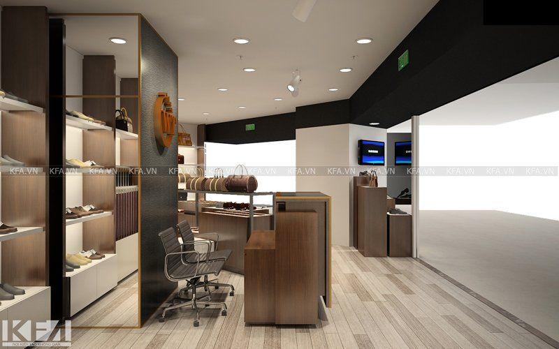 Thiết kế và thi công showroom thương hiệu da WT tại TTTM Royal City