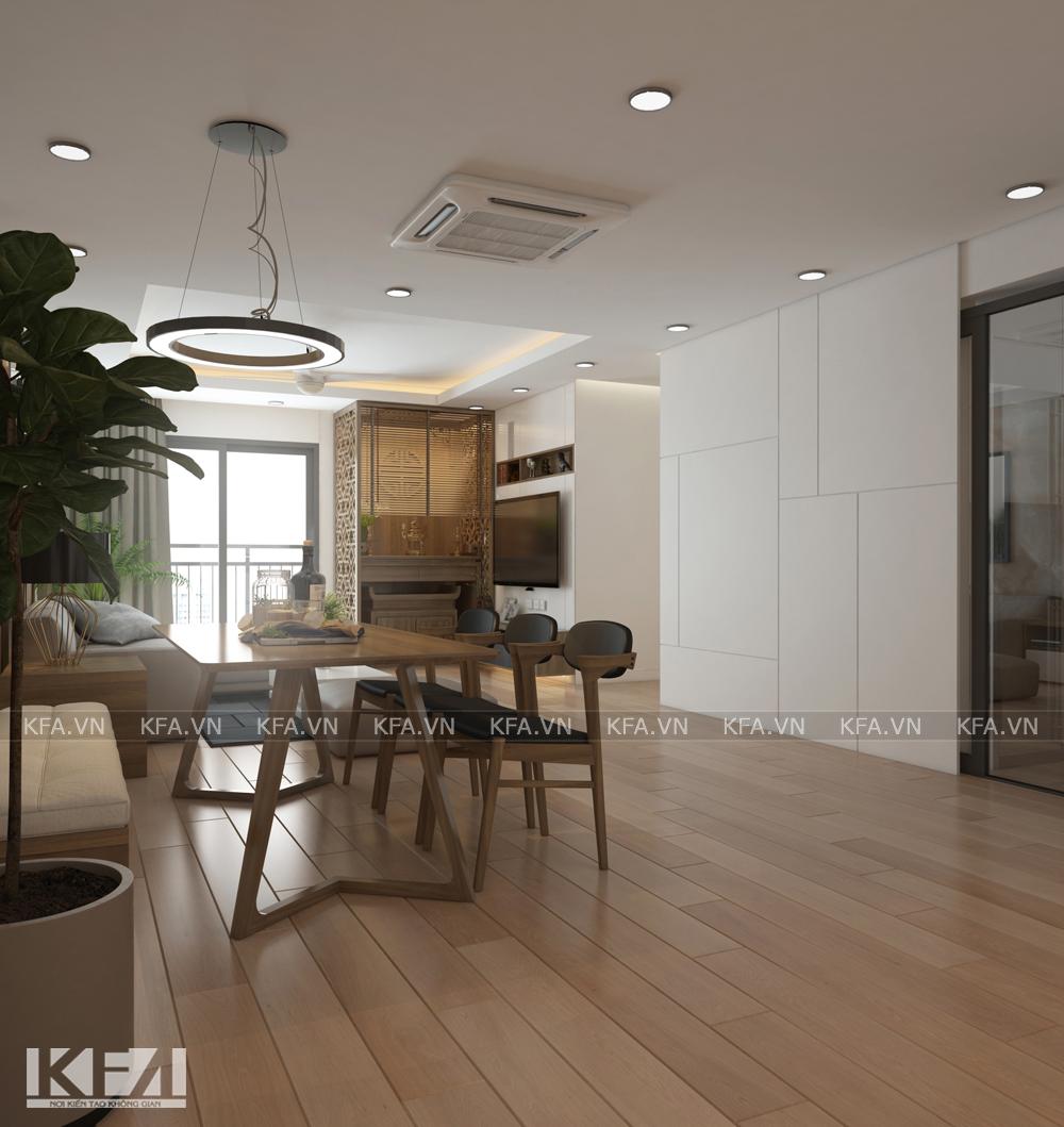 Mẫu thiết kế nội thất chung cư 3 ngủ sang trọng