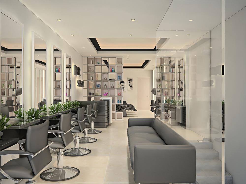 Thiết kế cửa hàng cắt tóc VIRGO