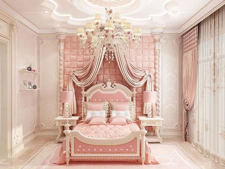 thiết kế phòng ngủ theo phong cách hoàng gia