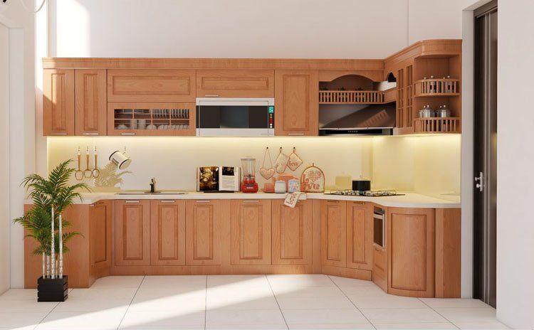 mẫu tủ bếp thông dụng cho quá trình nấu nướng