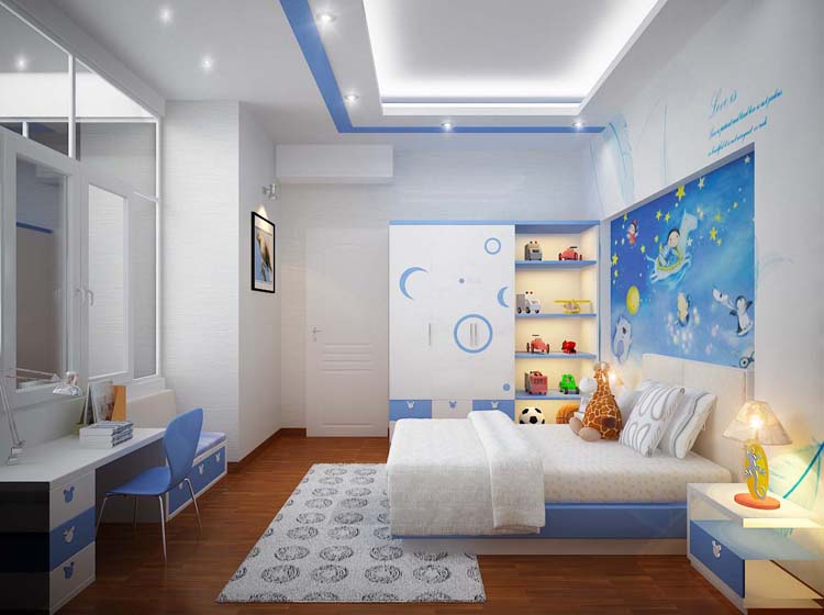 Thiết kế phòng ngủ bé trai từ 4-6 tuổi