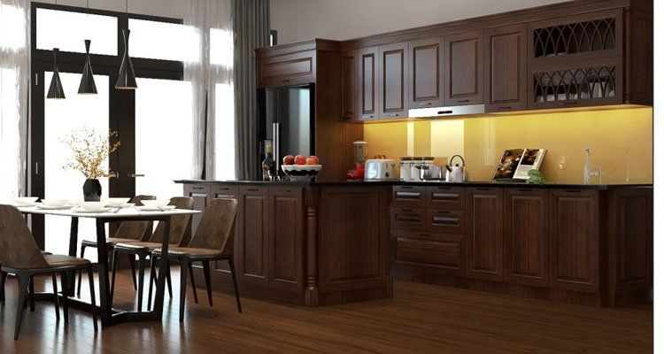 sử dụng gam màu trầm ấm cho gỗ tự nhiên