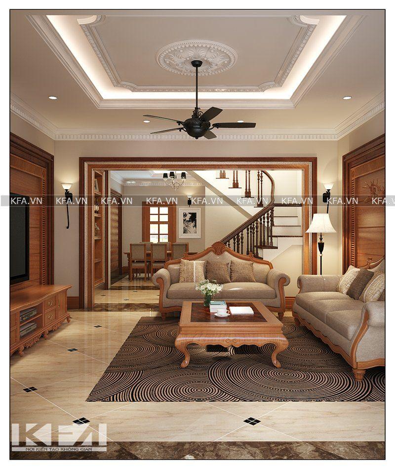 Thiết kế phòng khách biệt thự Linh Đàm- anh Thanh