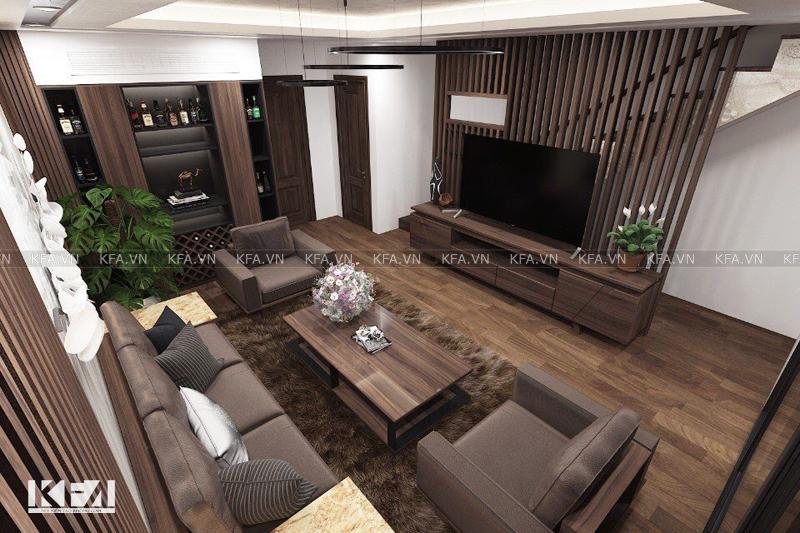 Thiết kế nội thất biệt thự mặt phố Đông Anh- anh Thiện