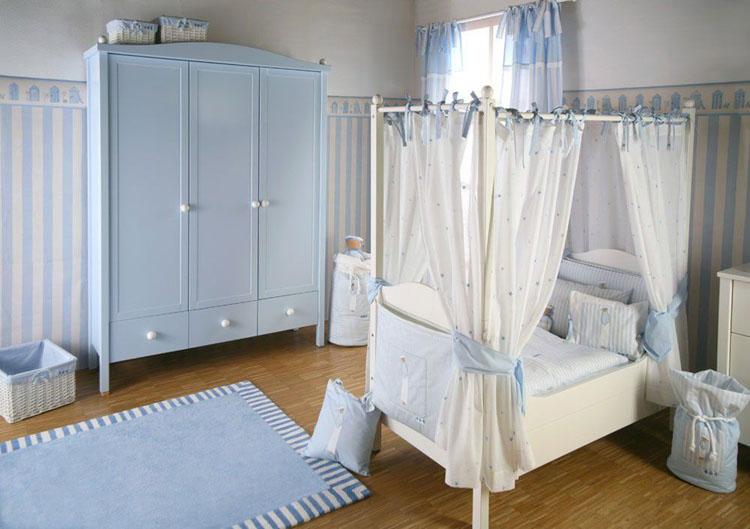 Thiết kế phòng ngủ cho bé trai sơ sinh nổi bật
