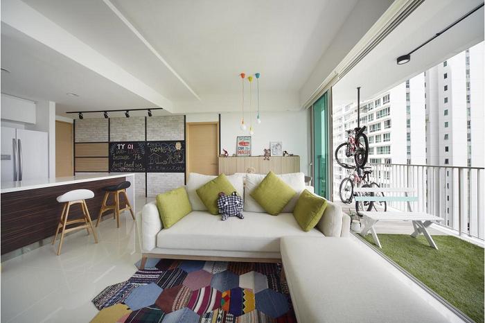 Thiết kế nội thát chung cư 90m2 thông thoáng và rộng rãi