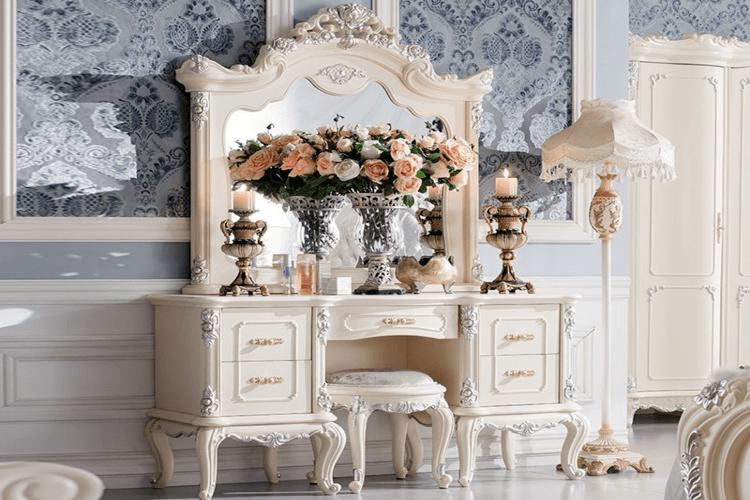 bàn trang điểm công chúa được thiết kế tỉ mỉ và đẹp mắt