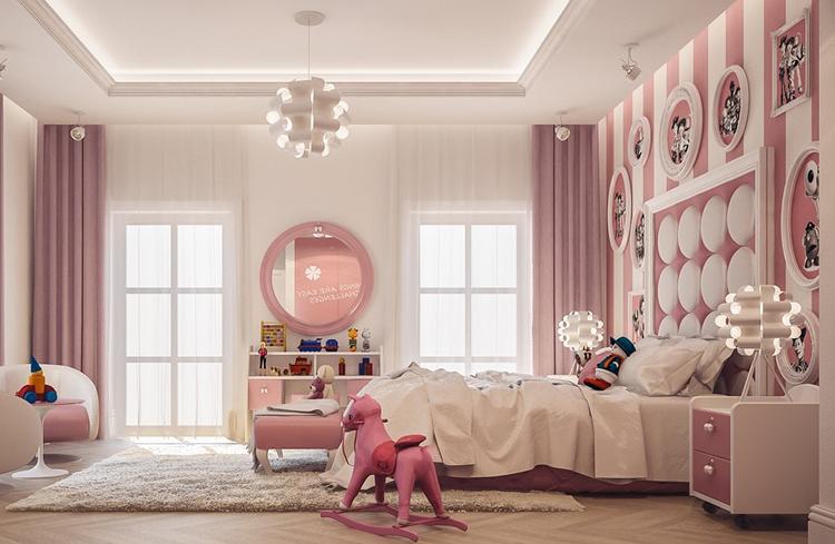 mẫu phòng ngủ bé gái được thiết kế tỉ mỉ