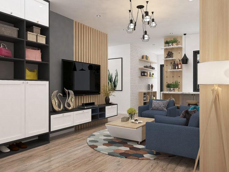 mẫu thiết kế nội thất phòng khách nhỏ
