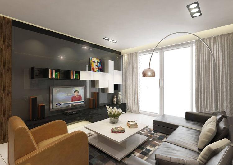 thiết kế nội thất phòng khách nhỏ đẹp hiện đại