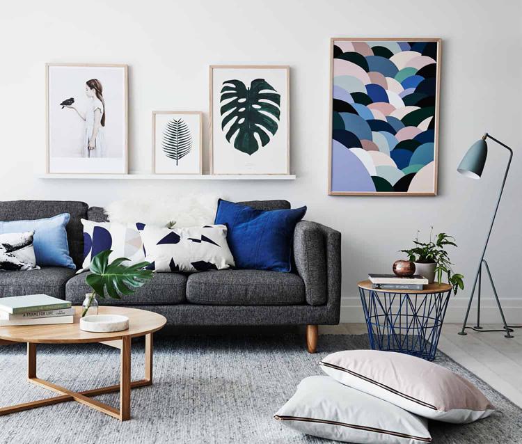 sự hài hòa giữa các gam màu trong phòng khách