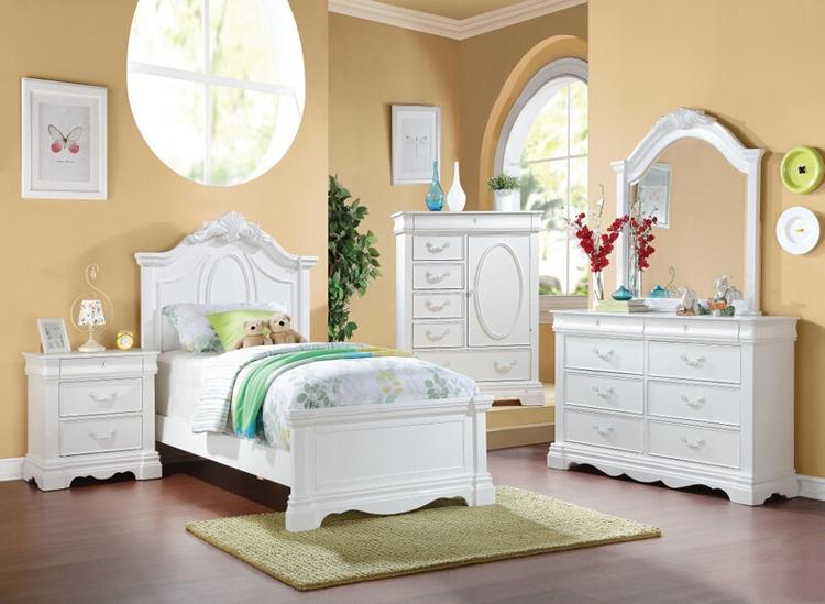 mẫu phòng ngủ bé gái này được thiết kế theo phong cách tân cổ điển