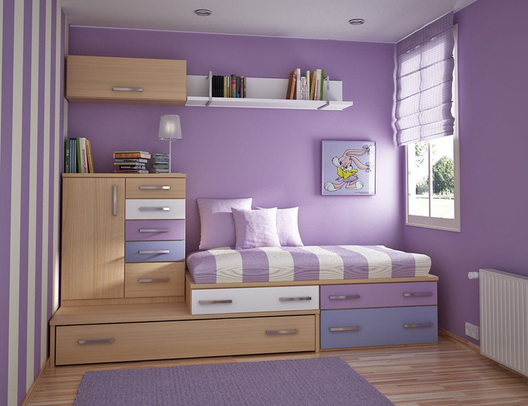 Căn phòng được nổi bật nhờ gam màu sắc
