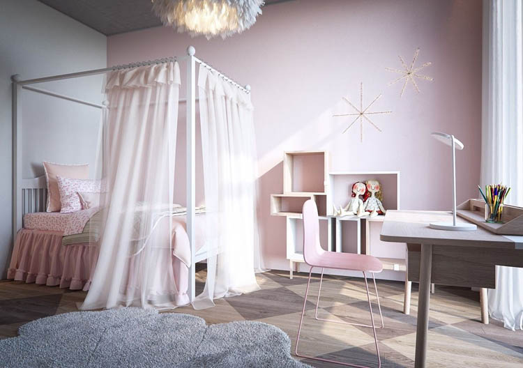 mẫu phòng này được thiết kế tận dụng tối đa ánh sáng tự nhiên
