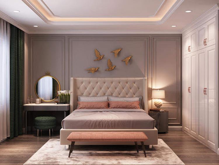 Với thiết kế tân cổ điển đã khiến căn phòng trở nên đẳng cấp