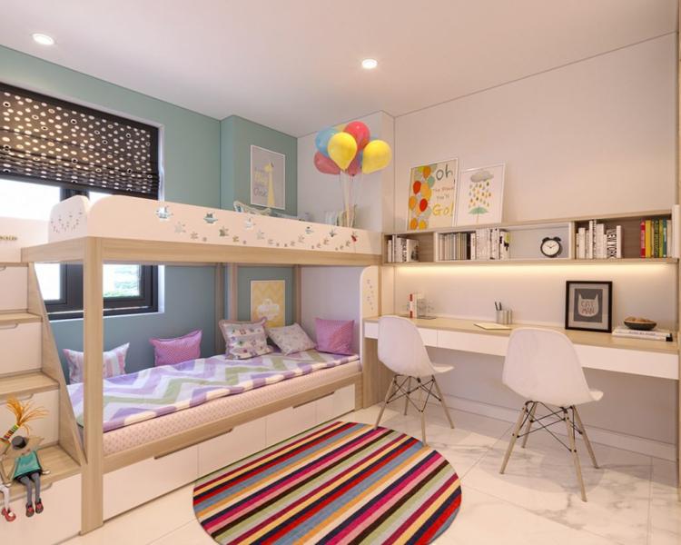 mẫu thiết kế phòng ngủ bé gái ấm cúng