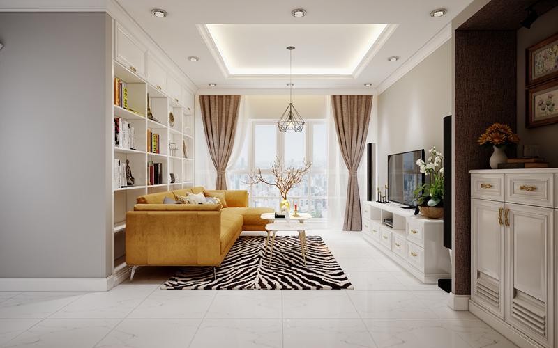 CChungcuw 90m2 3 phòng ngủ sử dụng đồ nội thất thông minh