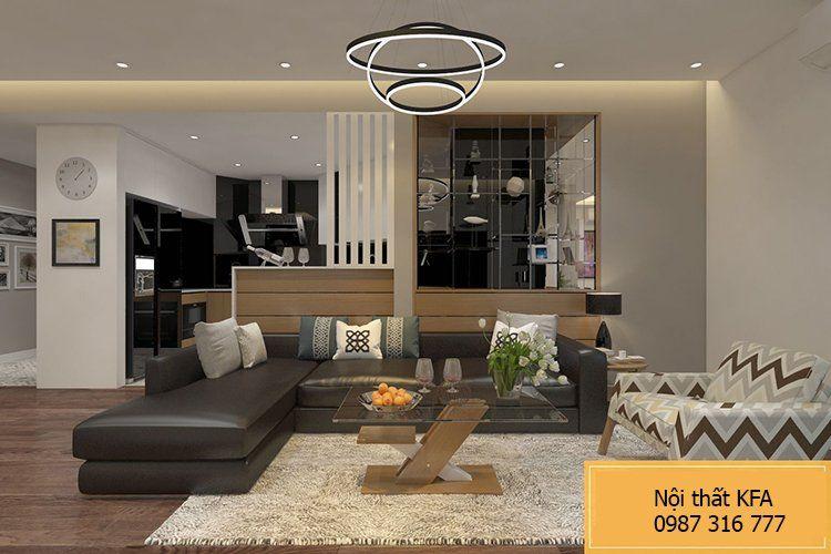 Phòng khách chung cư 110m2