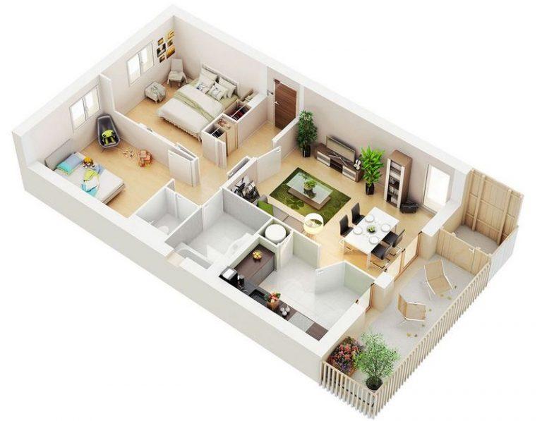 thiết kế chung cư 90m 2 phòng ngủ