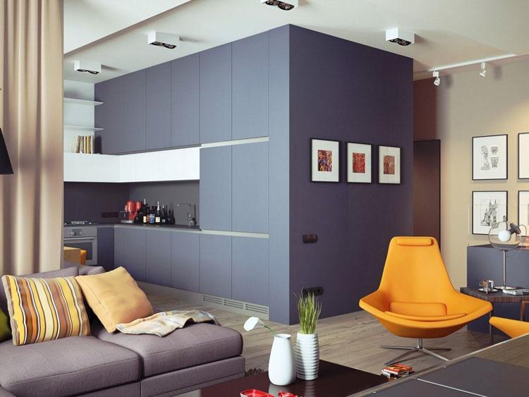 phòng khách được thiết kế liên thông