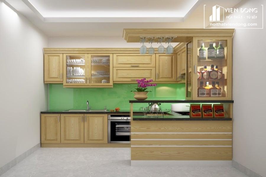 20 mẫu tủ bếp gỗ Sồi đang được ưa chuộng nhất hiện nay.