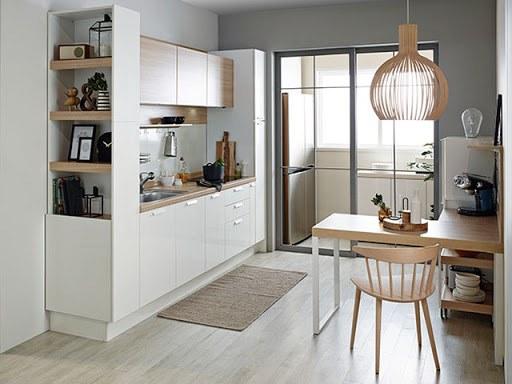 mẫu phòng bếp chung cư đẹp 11