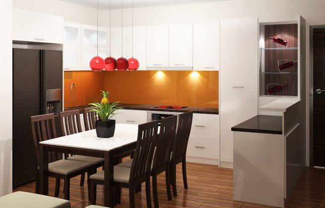 mẫu phòng bếp chung cư đẹp 3