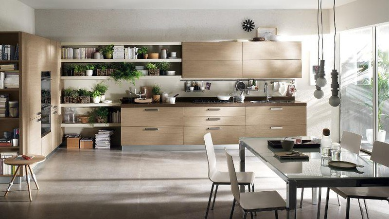 mẫu phòng bếp chung cư đẹp