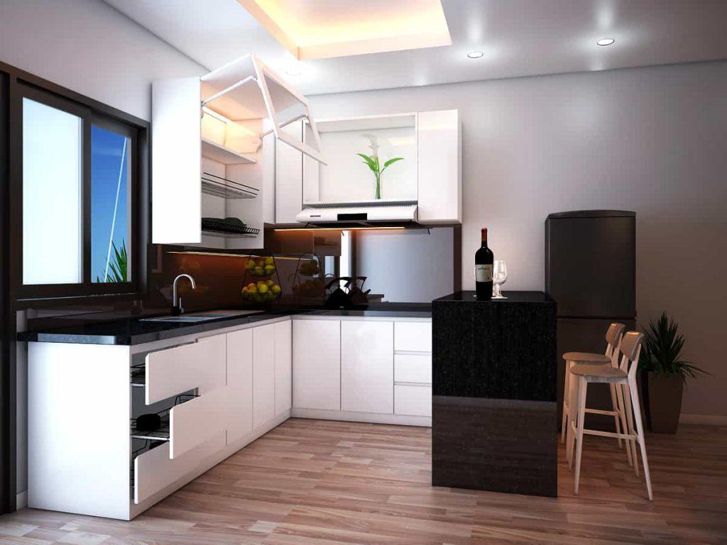 mẫu thiết kế phòng bếp chung cư đẹp