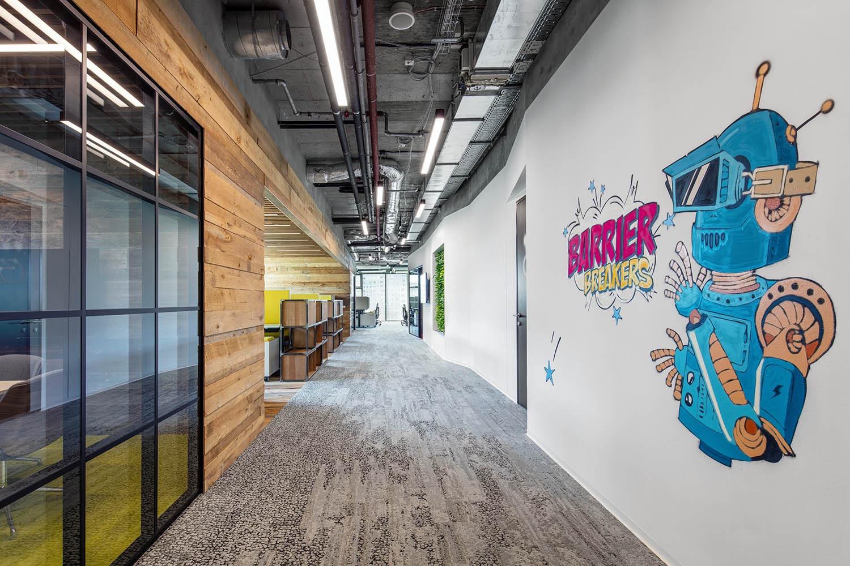 phong cách thiết kế nội thất văn phòng vui nhộn