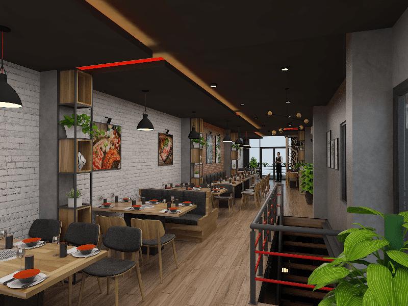 Thiết kế nội thất nhà hàng lẩu nướng