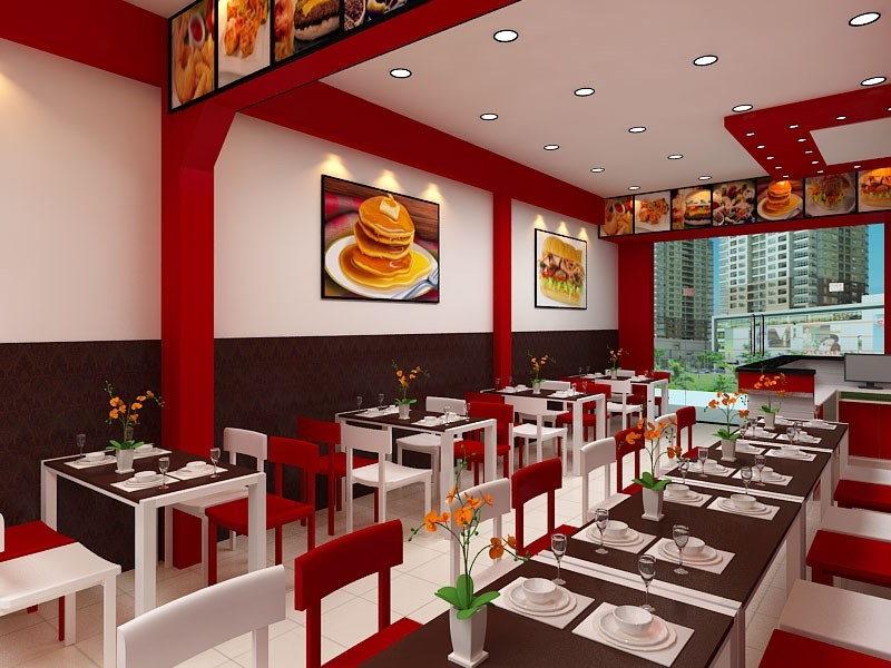 Thiết kế nội thất nhà hàng đồ ăn nhanh