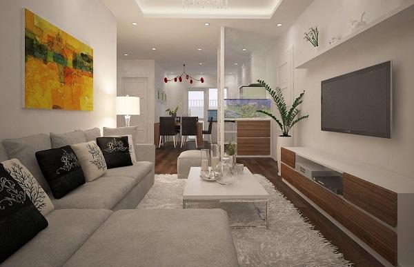 Thiết kế nội thất phong khách chung cư