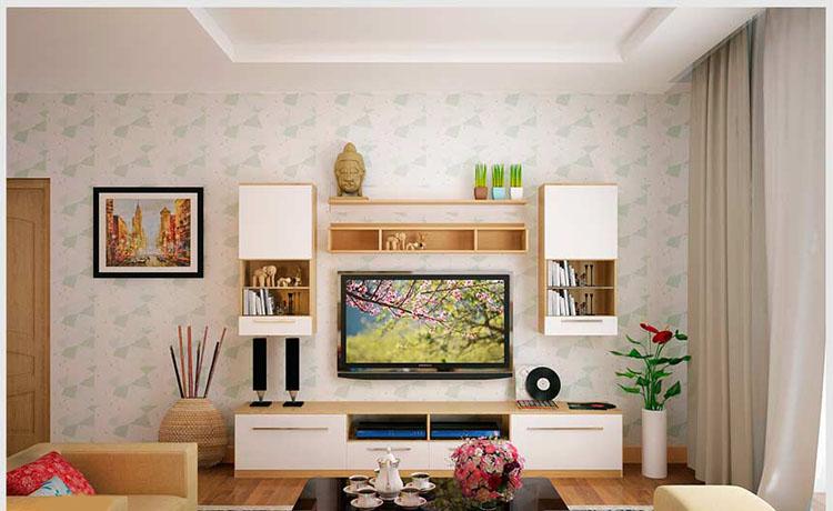 mẫu thiết kế nội thất phòng khách 26m2