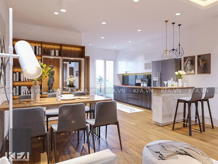Thiết kế phòng bếp chung cư theo phong thủy
