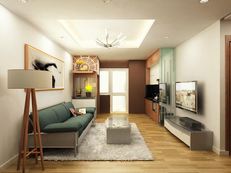 trang trí nội thất phòng khách 20m2