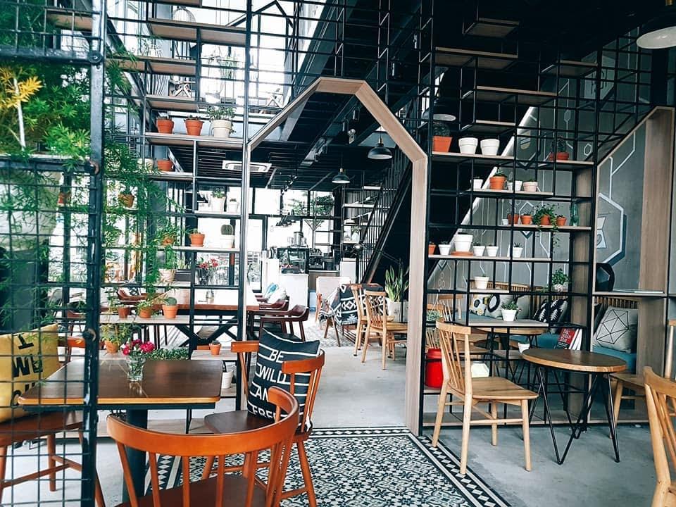 Thiết kế nội thất quá cafe với không gian mở