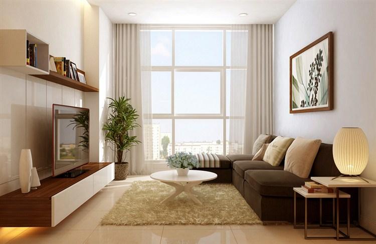 trang trí nội thất cho phòng khách 12m2