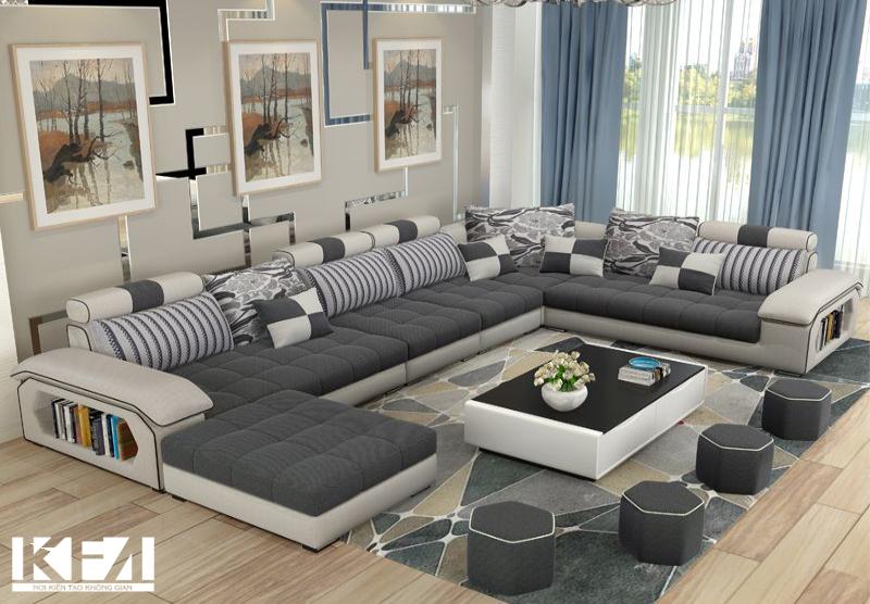 Sofa nỉ cho phòng khách một không gian mới hơn, ấn tượng hơn.