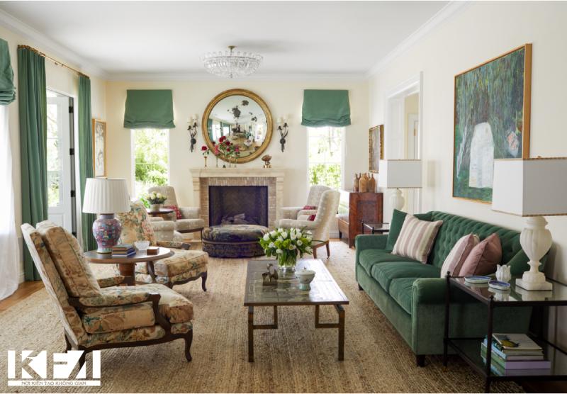 Sofa chất liệu nỉ sáng màu