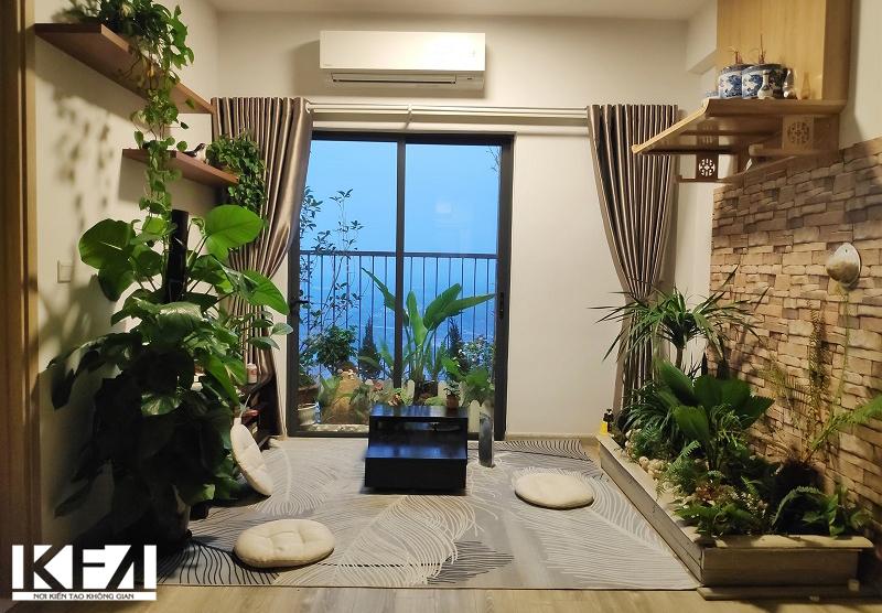 Mẫu thiết kế nội thất chung cư hai phòng ngủ hiện đại