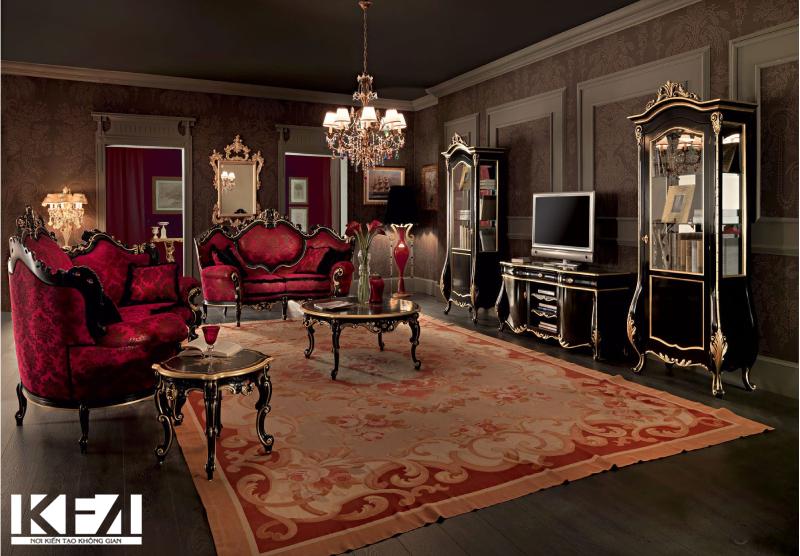 Chia sẻ kinh nghiệm chọn bàn ghế gỗ phòng khách phong cách cổ điển
