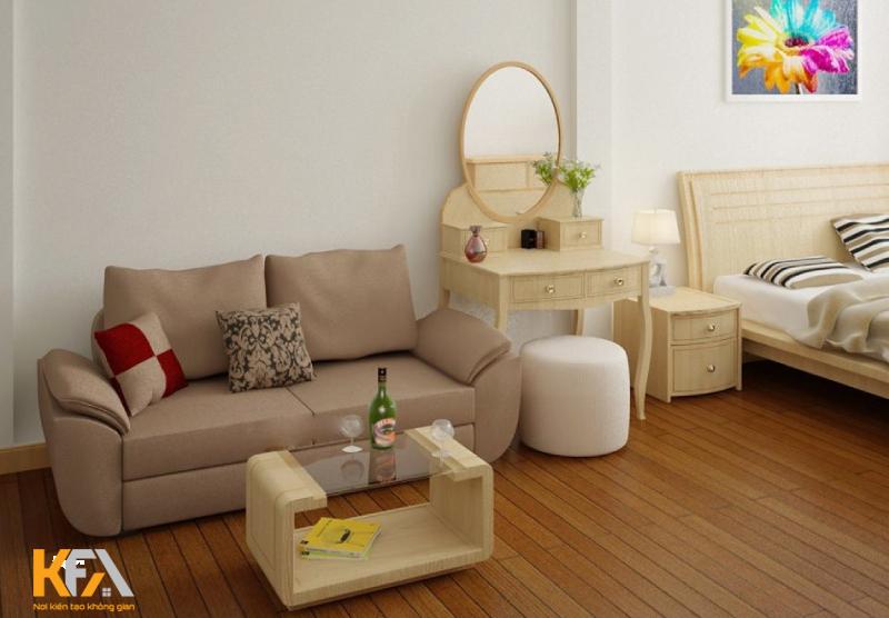 Lựa chọn sofa cho phòng ngủ hiện đại