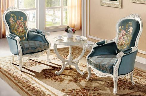 Bàn ghế phòng ngủ phong cách châu âu