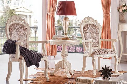 Bàn ghế phòng ngủ phong cách châu âu 2