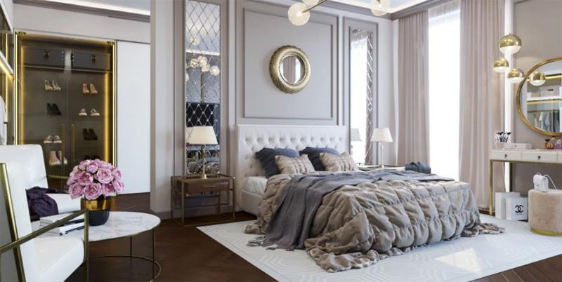 Bàn ghế phòng ngủ cổ điển 2