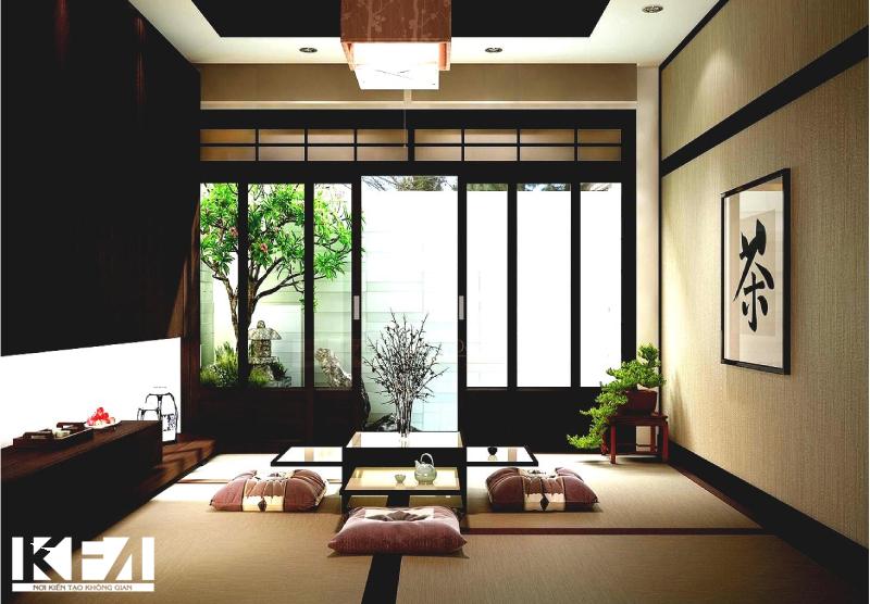 Phòng khách sử dụng bàn vuông thường có phong cách tối giản, phong khoáng.